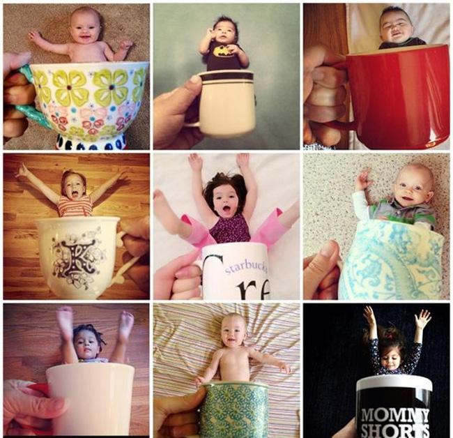 'Mốt' chụp ảnh cho bévới cốc được blogger Ilana Wiles - một bà mẹ sáng tạo - khởi xướng đã thu hút được sự quan tâm và ủng hộ của rất nhiều người, đặc biệt là các ông bố, bà mẹ.  Thú vị, hài hước, ngộ nghĩnh và không kém phần nghệ thuật... là những bình luận được độc giả chia sẻ sau khi xem bộ ảnh của bé với ý tưởng lạ-độc-đẹp dưới đây!