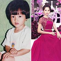 Hoa hậu Thu Thảo biết tạo dáng từ mẫu giáo