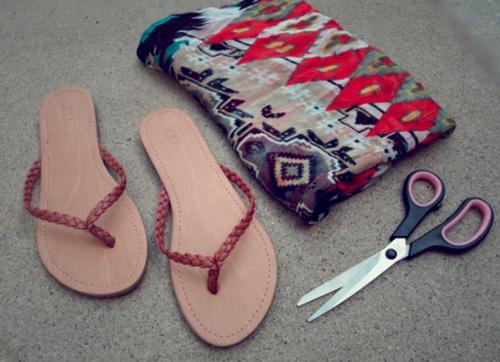 Eva khéo tay: Biến hóa giày xinh cùng vải vụn - 10