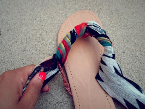 Eva khéo tay: Biến hóa giày xinh cùng vải vụn - 14