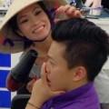 Làng sao - Phương Thanh đội nón làm tóc cho Lam Trường