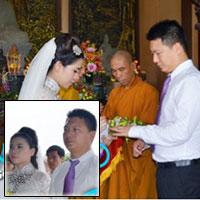 Lễ cưới theo nghi thức Phật giáo của Mỹ Dung