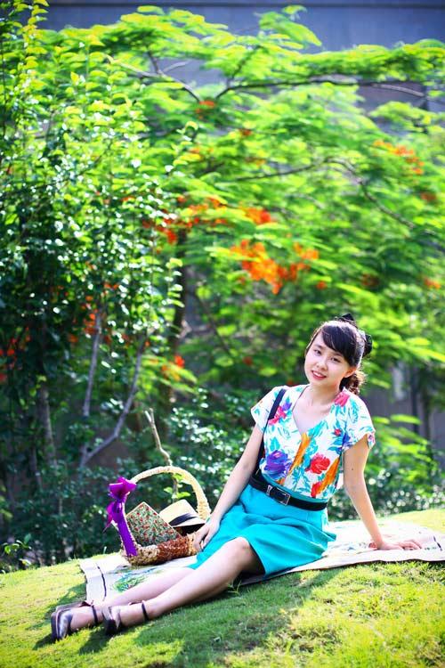 eva dep: co nang 'co dien' me picnic - 1