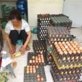 Mua sắm - Giá cả - Dịch cúm gia cầm, trứng bẩn vẫn bán tràn lan