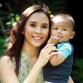 Làng sao - Á hậu Thiên Lý khoe con trai đáng yêu