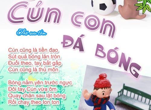 """me ke con nghe: """"cun con da bong"""" - 2"""