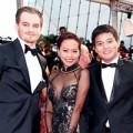 Làng sao - Hồng Ánh diện áo dài gợi cảm tới LHP Cannes