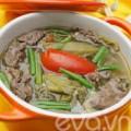 Bếp Eva - Canh thịt bò nấu dưa chua