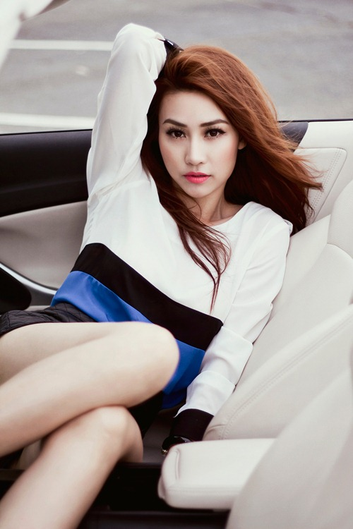 ngan khanh sexy khoe chan thon cuc nuot - 3