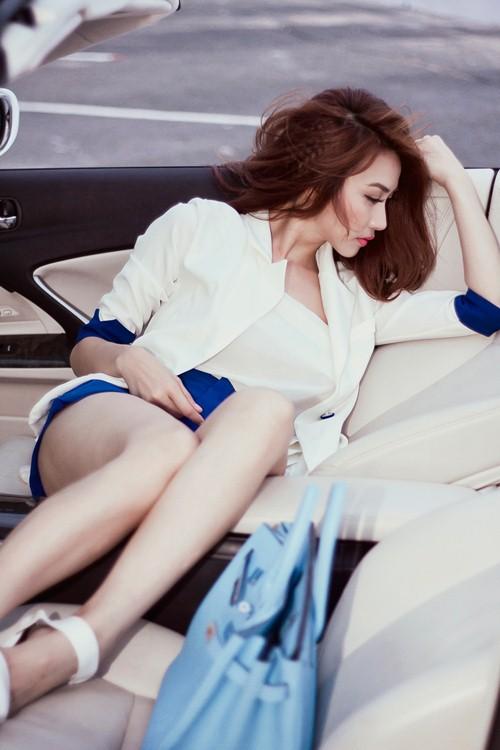 ngan khanh sexy khoe chan thon cuc nuot - 5