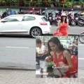 Làng sao - HH Diễm Hương lái xe hơn 2 tỷ đi uống cafe