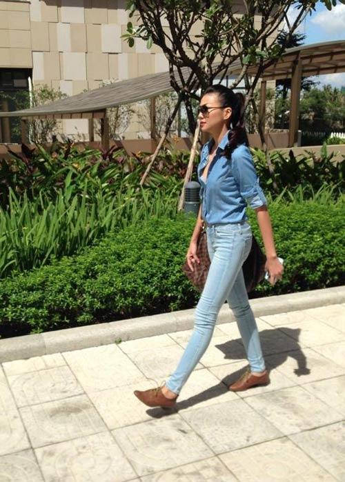 dien quan jeans 'chat' nhu thanh hang - 1