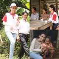 Làng sao - HH Diễm Hương đội nắng về quê làm từ thiện