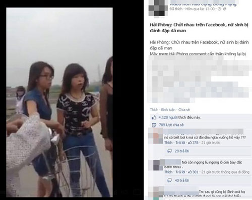 nu sinh bi danh da man vi chui ban tren facebook - 1