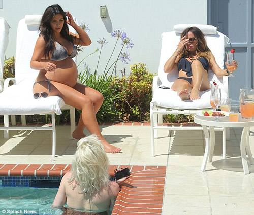 ba bau kim kardashian goi cam truoc khi sinh - 4