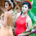 Thời trang - Ngắm mỹ nhân Việt một thoáng yếm đào