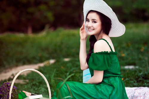 vy oanh xanh muot buoi chieu he - 11