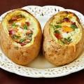 Bếp Eva - Khoai tây nhồi trứng nướng