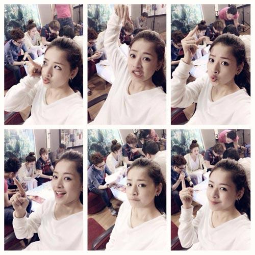 """hong nhung rang ro ben my linh """"chuan men"""" - 10"""