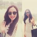 Làng sao - Angela Phương Trinh khoe sắc bên Hồ Gươm