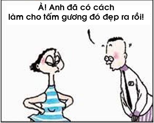 truyen tranh cuoi: lay chan dai toi nach - 8