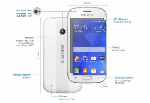 samsung cong bo smartphone tam trung galaxy ace style - 1