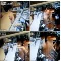 Sốc: Khỏa thân đập phá trong cửa hàng McDonald's