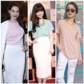 Thời trang - Sao Việt ngọt ngào cùng bộ đôi pastel và trắng