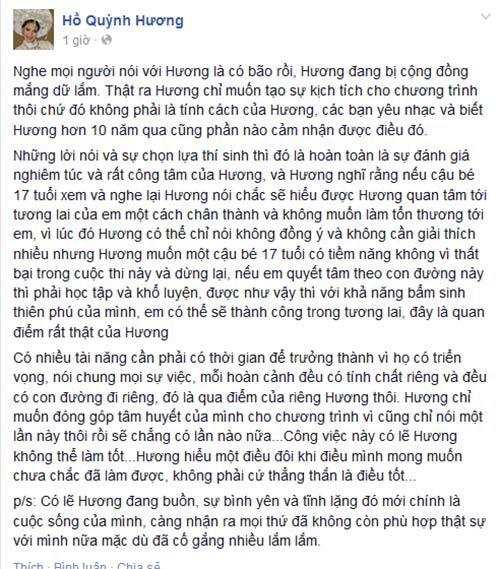 "ho quynh huong len tieng vi bi ""nem da"" - 4"