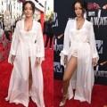 """Thời trang - Rihanna khoe """"ngực đầy, chân thon"""" trên thảm đỏ MTV"""