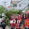 Tin tức - Thót tim xe bồn cháy gần kho xăng