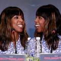 Làng sao - Kelly Rowland cười thả ga trong buổi họp báo