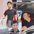 Làng sao - Nam vương Hongkong rửa xe ngoài đường