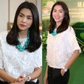 Làng sao - Tăng Thanh Hà ăn mặc giản dị vẫn tỏa sáng