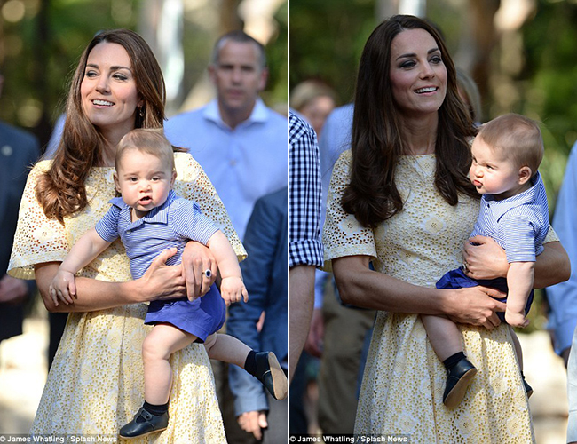 Sau chuyến đi tới New Zealand, gia đình Hoàng tử Anh lại có mặt tại Úc cùng cậu con trai yêu Hoàng tử nhí George. Lần đầu tiên được tới đất nước của xứ sở chuột túi, Cậu nhóc của gia đình Hoàng gia có phần bỡ ngỡ khi ở trên tay mẹ. Mỗi lần xuất hiện Tiểu hoàng tử nhỏ luôn là tâm điểm chú ý của giới truyền thông. Khuôn mặt bầu bĩnh với nét mặt nhăn nhó đáng yêu của Hoàng tử George khiến nhiều người thích thú.
