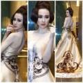 """Thời trang - Angela Phương Trinh """"quyền lực"""" với váy họa tiết Hai Bà Trưng"""