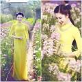 Làng sao - Lê Huỳnh Thúy Ngân đẹp không tỳ vết bên hoa