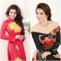 Làng sao - Quý bà Kim Hồng khoe sắc với áo dài hoa