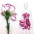 Thời trang - Ngẫu hứng xé cánh hoa làm... váy