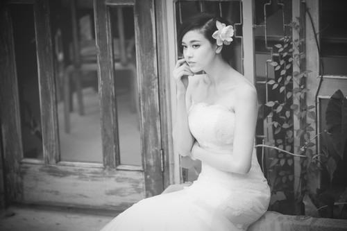 truong quynh anh dien vay cuoi lam co dau - 5