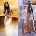 Làng sao - Ngọc Anh gây chú ý vì diện váy dạ hội dạo phố