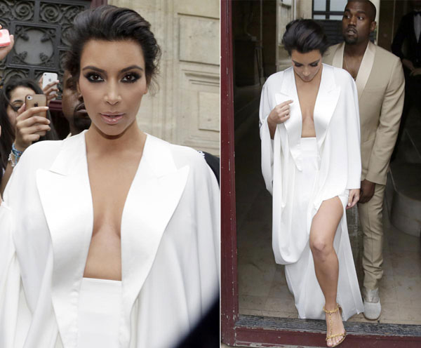 kim kardashian sexy trong tiec cuoi tai lau dai - 1