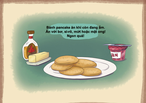 tu lam banh pancake chay cuc de - 5