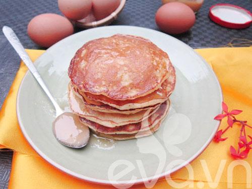 tu lam banh pancake chay cuc de - 7
