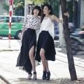 Thời trang - Chà Mi, Nhã Trúc nữ tính trên đường phố Sài thành