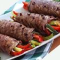 Bếp Eva - Thịt bò cuộn thập cẩm nướng