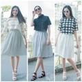Thời trang - Diện váy xòe, áo lửng 'chất' như Á Hậu Việt