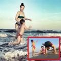 Làng sao - Hồ Ngọc Hà chơi đùa trên biển cùng Subeo