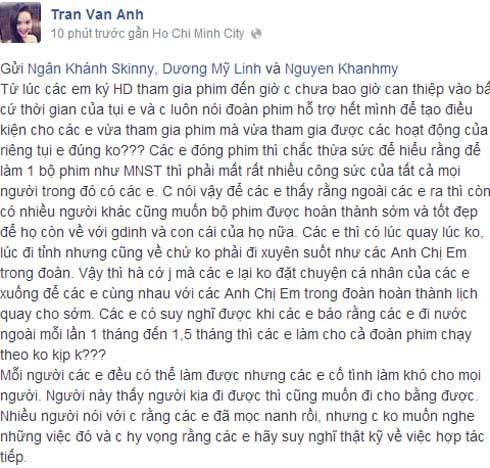 """khanh my: """"dung loi toi vao viec khong lien quan"""" - 1"""
