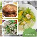 Bếp Eva - Thực đơn: Sườn om nước dừa, canh bí tôm